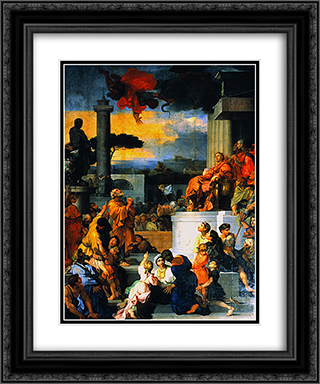 The Fall of Simon Magus 20x24 Black or Gold Ornate Framed and Double Matted Art Print by Sebastien Bourdon
