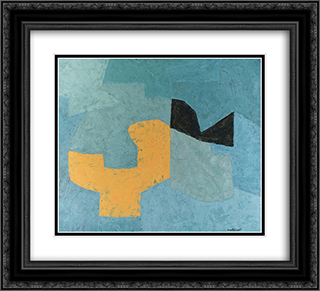 Composition 22x20 Black or Gold Ornate Framed and Double Matted Art Print by Serge Poliakoff