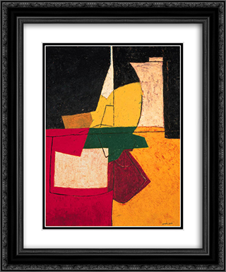 Composition abstraite aux traits 20x24 Black or Gold Ornate Framed and Double Matted Art Print by Serge Poliakoff