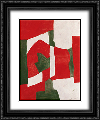 Untitled 20x24 Black or Gold Ornate Framed and Double Matted Art Print by Serge Poliakoff