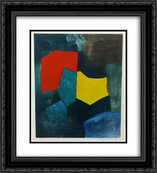 XVI 20x22 Black or Gold Ornate Framed and Double Matted Art Print by Serge Poliakoff