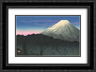 Fuji from Hakone 24x18 Black or Gold Ornate Framed and Double Matted Art Print by Shotei Takahashi