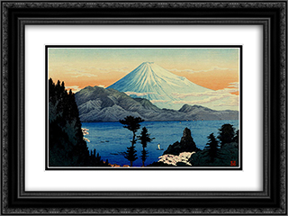 Fuji from Kurasawa 24x18 Black or Gold Ornate Framed and Double Matted Art Print by Shotei Takahashi