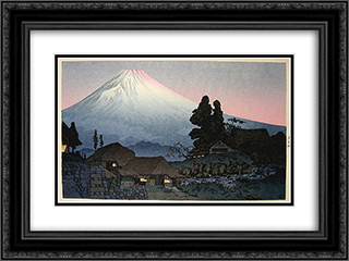Fuji from Mizuchubo 24x18 Black or Gold Ornate Framed and Double Matted Art Print by Shotei Takahashi