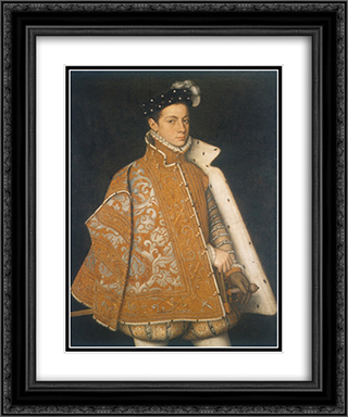 A portrait of a young Alessandro Farnese, the future Duke of Parma 20x24 Black or Gold Ornate Framed and Double Matted Art Print by Sofonisba Anguissola