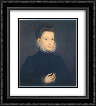 Infantin Isabella Clara Eugenia 20x22 Black or Gold Ornate Framed and Double Matted Art Print by Sofonisba Anguissola