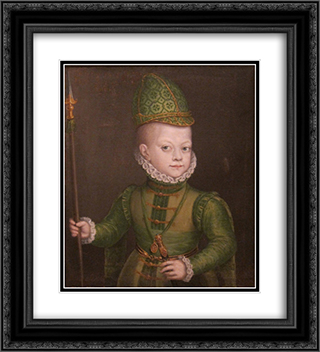 Portrait of a Boy at the Spanish Court 20x22 Black or Gold Ornate Framed and Double Matted Art Print by Sofonisba Anguissola