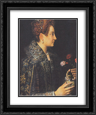 Portrait of a young woman in profile 20x24 Black or Gold Ornate Framed and Double Matted Art Print by Sofonisba Anguissola