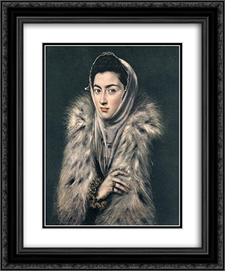 Portrait of Caterina Micaela of Spain 20x24 Black or Gold Ornate Framed and Double Matted Art Print by Sofonisba Anguissola