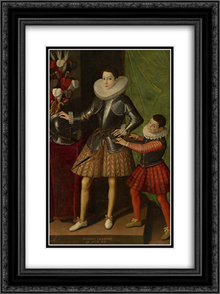 Portrait of Giuliano II Cesarini aged 14 18x24 Black or Gold Ornate Framed and Double Matted Art Print by Sofonisba Anguissola