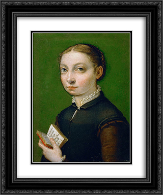 Self-portrait 20x24 Black or Gold Ornate Framed and Double Matted Art Print by Sofonisba Anguissola