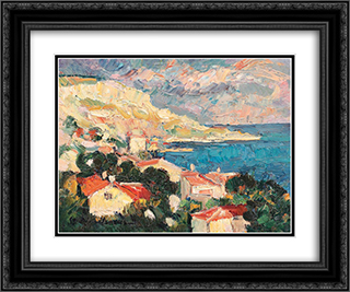 Balchik Gulf 24x20 Black or Gold Ornate Framed and Double Matted Art Print by Stefan Dimitrescu
