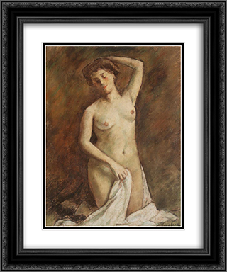 After Bath 20x24 Black or Gold Ornate Framed and Double Matted Art Print by Stefan Luchian
