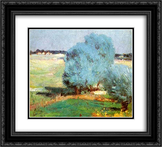 Chiajna Willows 22x20 Black or Gold Ornate Framed and Double Matted Art Print by Stefan Luchian