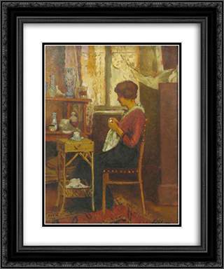In atelier 20x24 Black or Gold Ornate Framed and Double Matted Art Print by Stefan Luchian