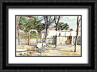 Inn Without Clients 24x18 Black or Gold Ornate Framed and Double Matted Art Print by Stefan Luchian