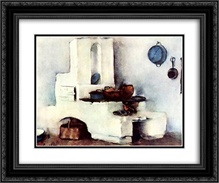 Kitchen 24x20 Black or Gold Ornate Framed and Double Matted Art Print by Stefan Luchian