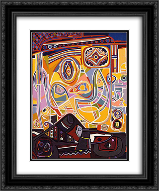 Little Joe Picking His Nose 20x24 Black or Gold Ornate Framed and Double Matted Art Print by Steve Wheeler