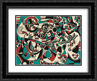 Prelude in Red 24x20 Black or Gold Ornate Framed and Double Matted Art Print by Steve Wheeler