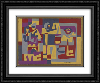 Strangers 24x20 Black or Gold Ornate Framed and Double Matted Art Print by Steve Wheeler