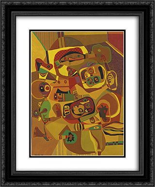 The Gold Cord 20x24 Black or Gold Ornate Framed and Double Matted Art Print by Steve Wheeler