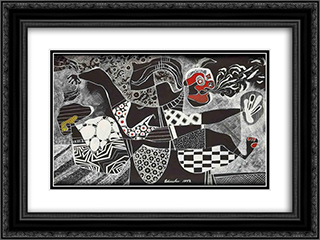 The Messenger 24x18 Black or Gold Ornate Framed and Double Matted Art Print by Steve Wheeler