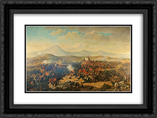 Battle of Alma 24x18 Black or Gold Ornate Framed and Double Matted Art Print by Theodor Aman