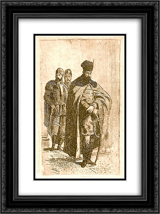 Michael the Brave 18x24 Black or Gold Ornate Framed and Double Matted Art Print by Theodor Aman