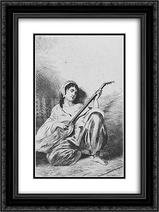 Oriental Music 18x24 Black or Gold Ornate Framed and Double Matted Art Print by Theodor Aman