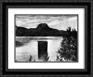 Andersnatten 24x20 Black or Gold Ornate Framed and Double Matted Art Print by Theodor Severin Kittelsen