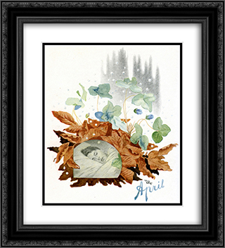 April 20x22 Black or Gold Ornate Framed and Double Matted Art Print by Theodor Severin Kittelsen