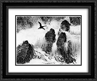 Brenning 24x20 Black or Gold Ornate Framed and Double Matted Art Print by Theodor Severin Kittelsen