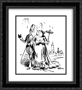 Couple 20x22 Black or Gold Ornate Framed and Double Matted Art Print by Theodor Severin Kittelsen