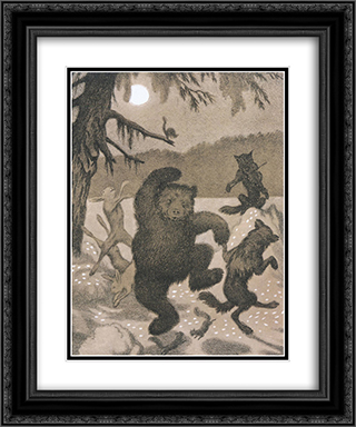 Dance in the moonbeam - Dans i maanglans 20x24 Black or Gold Ornate Framed and Double Matted Art Print by Theodor Severin Kittelsen