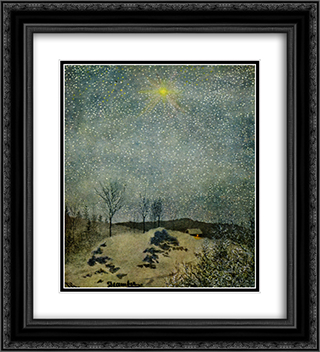 December 20x22 Black or Gold Ornate Framed and Double Matted Art Print by Theodor Severin Kittelsen