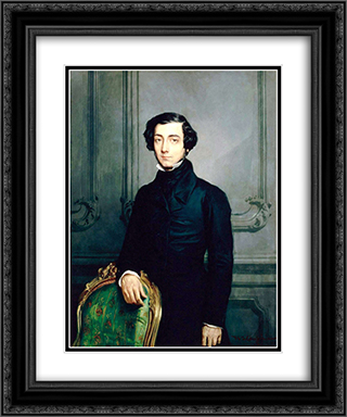 Alexis de Tocqueville 20x24 Black or Gold Ornate Framed and Double Matted Art Print by Theodore Chasseriau