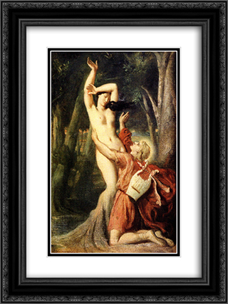 Apollo and Daphne 18x24 Black or Gold Ornate Framed and Double Matted Art Print by Theodore Chasseriau