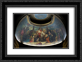 La Descente de croix 24x18 Black or Gold Ornate Framed and Double Matted Art Print by Theodore Chasseriau