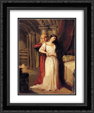 Le Coucher de Desdemone 20x24 Black or Gold Ornate Framed and Double Matted Art Print by Theodore Chasseriau