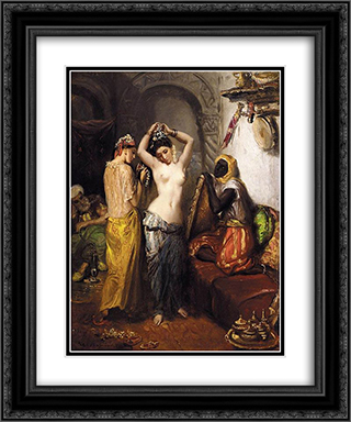 Le Harem 20x24 Black or Gold Ornate Framed and Double Matted Art Print by Theodore Chasseriau
