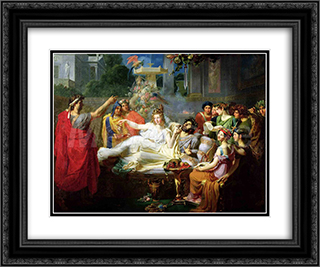 Macbeth 24x20 Black or Gold Ornate Framed and Double Matted Art Print by Theodore Chasseriau