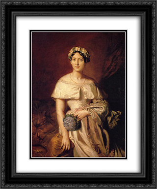 Portrait de Mlle de Cabarrus 20x24 Black or Gold Ornate Framed and Double Matted Art Print by Theodore Chasseriau