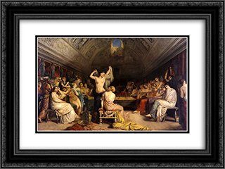 The Tepidarium 24x18 Black or Gold Ornate Framed and Double Matted Art Print by Theodore Chasseriau