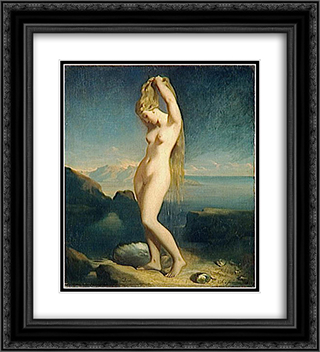 Venus anadyomene 20x22 Black or Gold Ornate Framed and Double Matted Art Print by Theodore Chasseriau