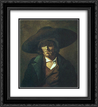 A man 20x22 Black or Gold Ornate Framed and Double Matted Art Print by Theodore Gericault