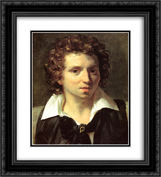 A Portrait Of A Young Man 20x22 Black or Gold Ornate Framed and Double Matted Art Print by Theodore Gericault