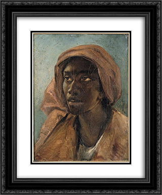 A Young Negro Woman 20x24 Black or Gold Ornate Framed and Double Matted Art Print by Theodore Gericault