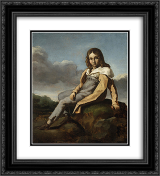 Alfred Dedreux as a Child 20x22 Black or Gold Ornate Framed and Double Matted Art Print by Theodore Gericault