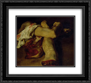 Anatomical Pieces 22x20 Black or Gold Ornate Framed and Double Matted Art Print by Theodore Gericault