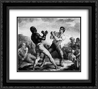 Boxers 22x20 Black or Gold Ornate Framed and Double Matted Art Print by Theodore Gericault
